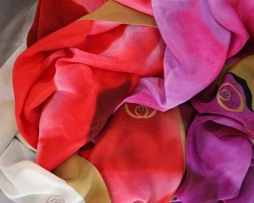 Rose Square Scarves